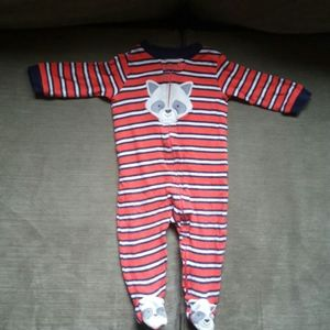 Carter's Red 3-6months Raccoon Pajama
